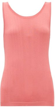 Scoop-back Knitted Tank Top - Womens - Coral