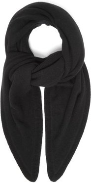 Western-style Cashmere Scarf - Womens - Black
