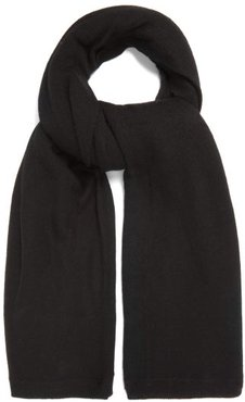 Sheer Knitted Cashmere Scarf - Womens - Black