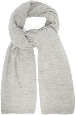 Sheer Knitted Cashmere Scarf - Womens - Grey Marl