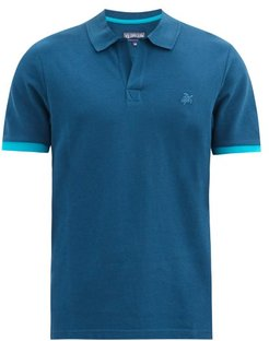 Palan Logo-embroidered Cotton Polo Shirt - Mens - Blue