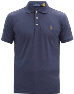 Logo-embroidered Pima Cotton-jersey Polo Shirt - Mens - Navy