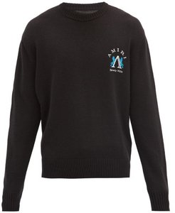 Beverly Hills Logo-embroidered Sweater - Mens - Black