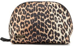Leopard-print Recycled-shell Wash Bag - Womens - Leopard