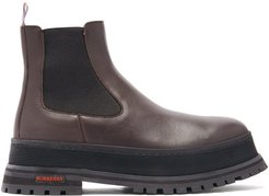 Jeffrey Raised-sole Leather Chelsea Boots - Mens - Brown