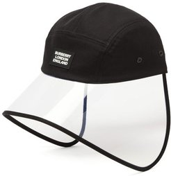 Transparent-brim Cotton Bonnet Hat - Mens - Black
