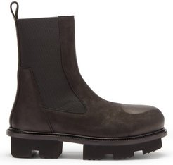 Bozo Megatooth Scratched-leather Chelsea Boots - Mens - Black
