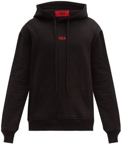 424 - Hooded Logo-embroidered Cotton-jersey Sweatshirt - Mens - Black