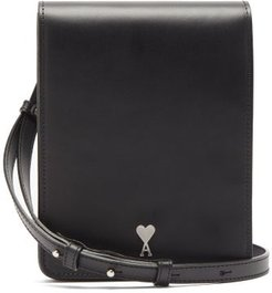 Smooth-leather Cross-body Bag - Mens - Black