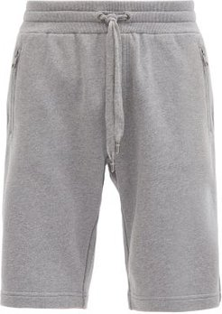 Logo-embroidered Cotton-jersey Shorts - Mens - Grey