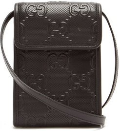GG-logo Quilted Leather Cross-body Bag - Mens - Black
