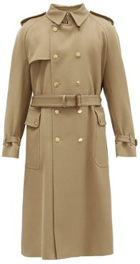 Double-breasted Wool-twill Trench Coat - Mens - Camel