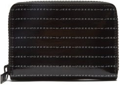 Logo-print Zipped Pvc And Leather Wallet - Mens - Black