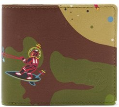 Space Camo Leather Bifold Wallet - Mens - Multi