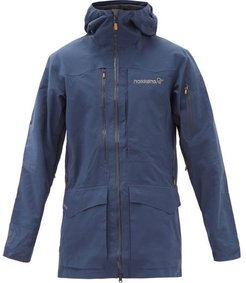 Tamok Logo-embroidered Gore-tex Hooded Jacket - Mens - Navy