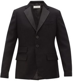 Diego Single-breasted Cotton-blend Blazer - Mens - Black