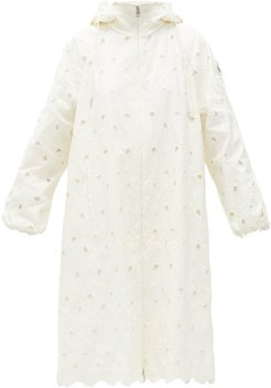 Zaleia Broderie-anglaise Technical Hooded Jacket - Womens - White