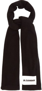 Ribbed Cashmere Scarf - Womens - Black