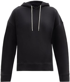 Organic-cotton Jersey Hooded Sweatshirt - Womens - Black