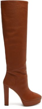 Chambord 120 Leather Knee-high Boots - Womens - Brown