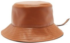 Fisherman Leather Bucket Hat - Womens - Tan