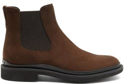 Rubber-sole Suede Chelsea Boots - Mens - Brown