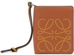 Dotted-anagram Leather Wallet - Womens - Tan Multi
