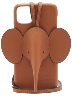 Elephant Iphone® 11 Pro Max Leather Phone Case - Womens - Tan