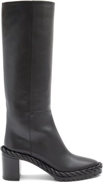 The Rope Leather Boots - Womens - Black