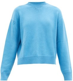 Dropped-sleeve Cashmere Sweater - Womens - Light Blue