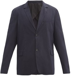 Relaxed-fit Single-breasted Cotton Blazer - Mens - Navy