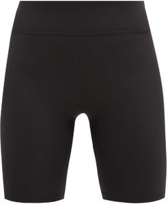 High-rise Stretch-jersey Cycling Shorts - Womens - Black
