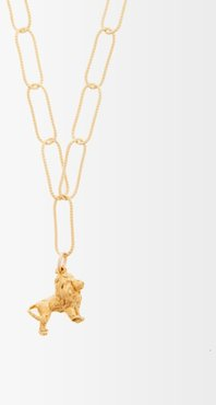 Baby Lion In The Night 24kt Gold-plated Necklace - Womens - Yellow Gold