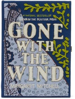 Gone With The Wind Embroidered Book Clutch - Womens - Blue Multi