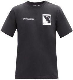 Steep Tech-print Cotton-jersey T-shirt - Mens - Black