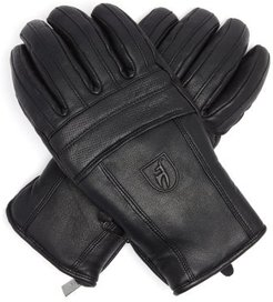 Jace Leather Ski Gloves - Mens - Black