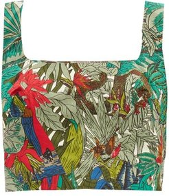 Camille Ranthambore Tiger-print Cotton Cropped Top - Womens - Green Print