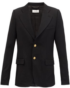 Blues Single-breasted Wool Suit Jacket - Mens - Black