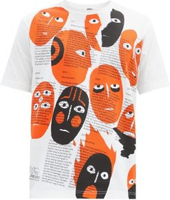Real Review-print Cotton-jersey T-shirt - Mens - White Multi