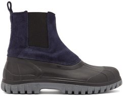Balbi Suede And Rubber Chelsea Boots - Mens - Navy