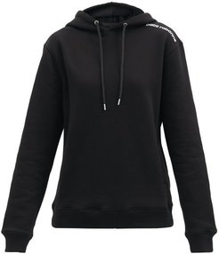 Logo-print Cotton-jersey Hooded Sweatshirt - Womens - Black