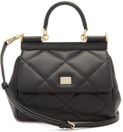 Sicily Small Quilted-leather Cross-body Bag - Womens - Black