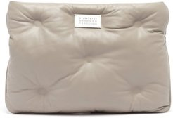 Glam Slam Quilted-leather Clutch Bag - Womens - Grey