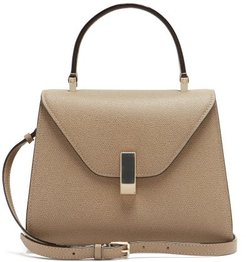 Iside Small Grained-leather Bag - Womens - Beige