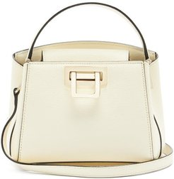 Brera Grained-leather Shoulder Bag - Womens - Ivory