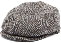 Tremelo Wool-tweed Flat Cap - Mens - Grey