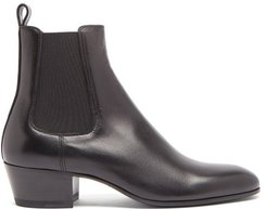 Stacked-heel Leather Chelsea Boots - Mens - Black