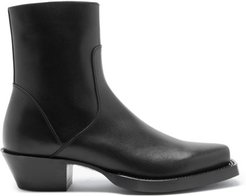 Western Leather Boots - Mens - Black