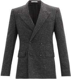 Kingsley Double-breasted Cashmere Blazer - Mens - Dark Grey