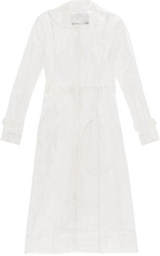 Belted Transparent Pvc Raincoat - Womens - Clear